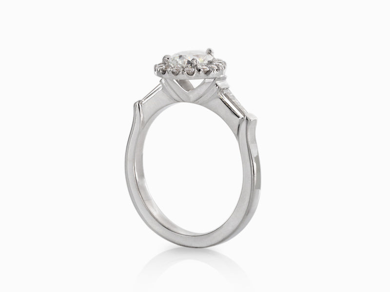 Pamela Lauz Jewellery - Pear Shaped and Baguette Diamond Engagement Ring
