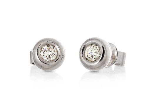 Pamela Lauz Jewellery - Diamond Bezel Stud Earrings