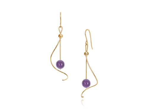Pamela Lauz Jewellery - Pirouette Amethyst Earrings