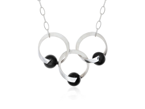 Pamela Lauz Jewellery - Rhapsody Trio Black Onyx Necklace