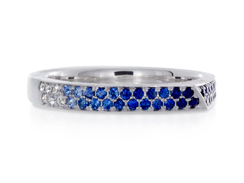 Pamela Lauz Jewellery - Edge Sapphire Wedding Band
