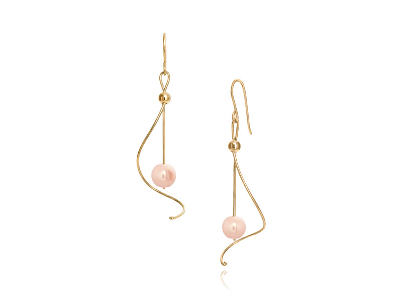 Pamela Lauz Jewellery - Pirouette Pink Pearl Earrings