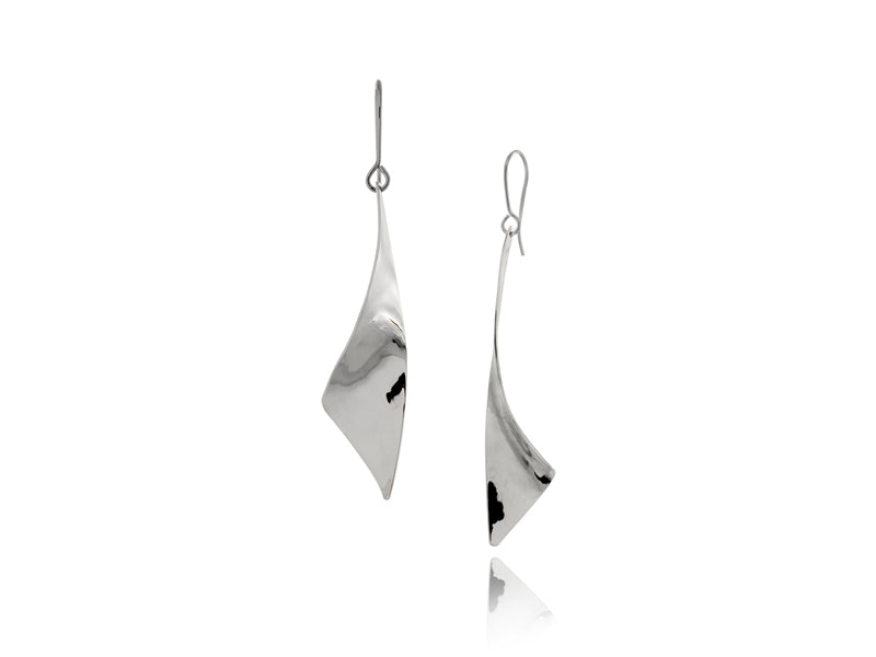 Pamela Lauz Jewellery - Viento Medium Silver Earrings