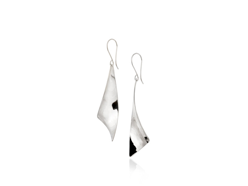 Pamela Lauz Jewellery - Viento Small Silver Earrings