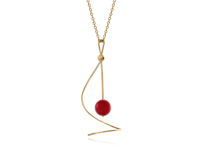 Pamela Lauz - Pirouette Sea Bamboo Twist Necklace - Gold