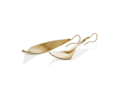 Pamela Lauz Jewellery - Viento Medium Brass Earrings