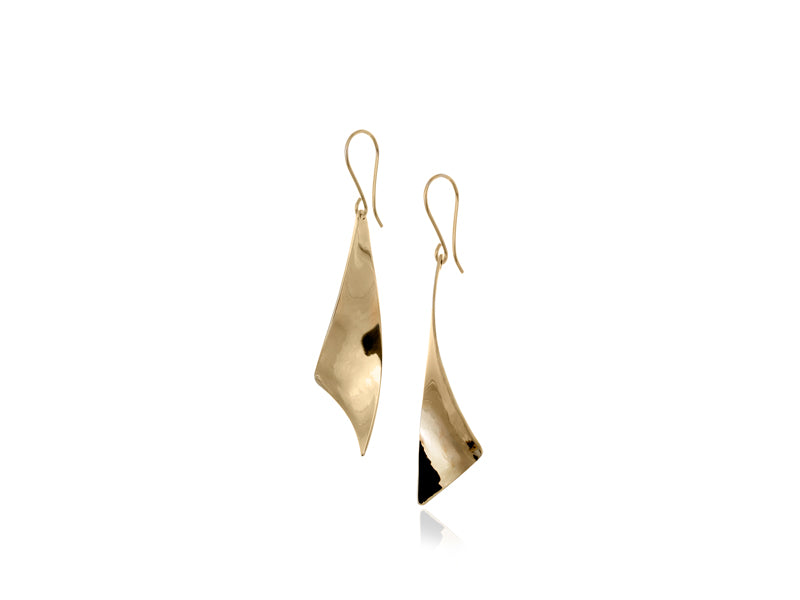 Pamela Lauz Jewellery - Viento Small Brass Earrings