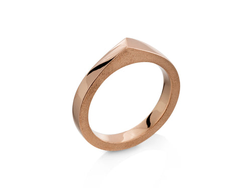 Pamela Lauz Jewellery - Edge Rose Gold Band