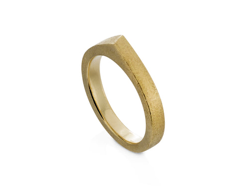 Pamela Lauz Jewellery - Edge Yellow Gold Band