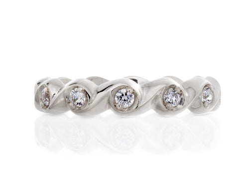 Pamela Lauz Jewellery - Rosette Wide Diamond Eternity Band