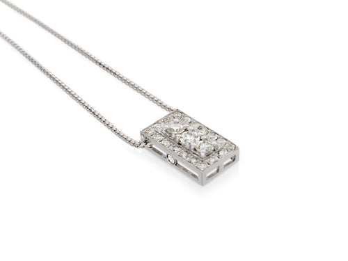 Pamela Lauz Jewellery - Art Deco Diamond Convertible Pendant