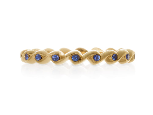Pamela Lauz Jewellery - Rosette Slim Band With Sapphires