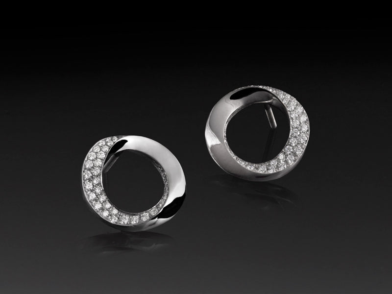Pamela Lauz Jewellery - Infinity Diamond Pave Stud Earrings