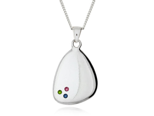 Pamela Lauz  - Terra Pebble Necklaces with Birthstones