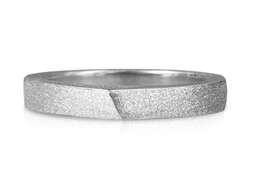 Pamela Lauz Jewellery - Edge Slim Ring Textured