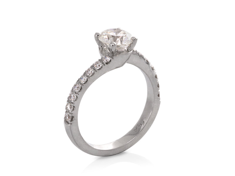 Pamela Lauz Jewellery - Sculptural Twist Diamond Engagement Ring