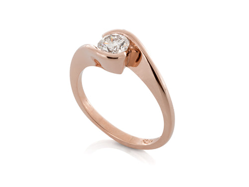 Pamela Lauz Jewellery - Crossover Diamond Engagement Ring