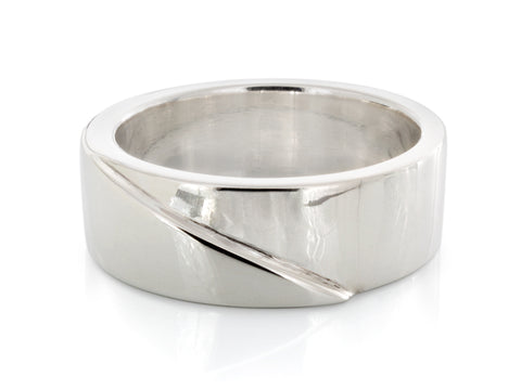 Two-tone White Gold Band