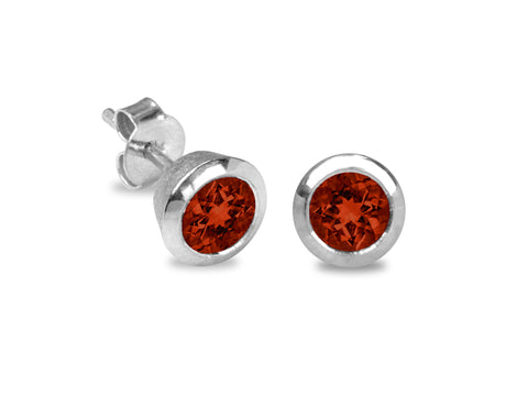 Aqua Garnet Earrings