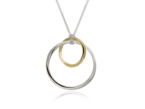 Pamela Lauz Jewellery - Mobius Orbit Silver and Bronze Pendant