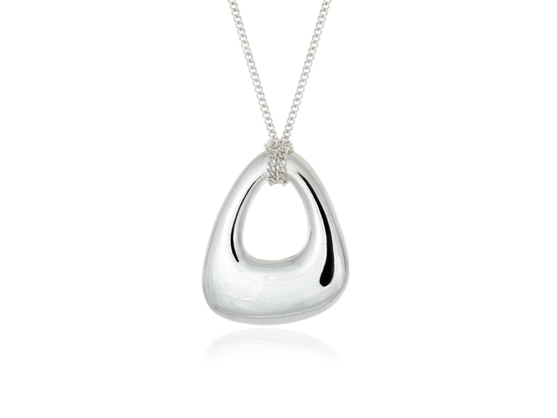 Pamela Lauz Jewellery - Terra Small Open Pebble Pendant