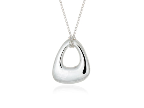 Terra Duo Pebble Silver and Bronze Pendant