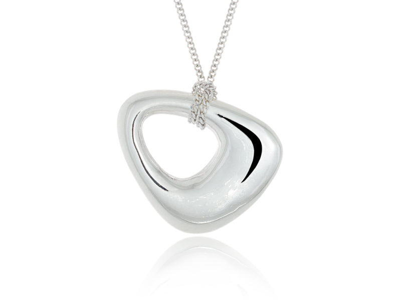 Pamela Lauz Jewellery - Terra Medium Open Pebble Pendant