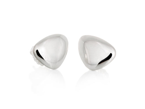 Pamela Lauz - Terra Pebble Stud Sterling Silver Earrings