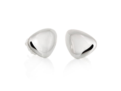 Infinity Silver Stud Earrings