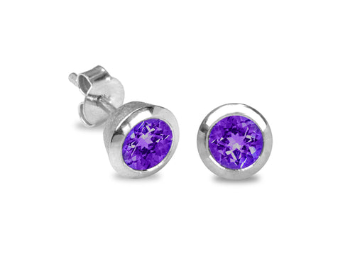 Pamela Lauz Jewellery - Confetti Amethyst Earrings