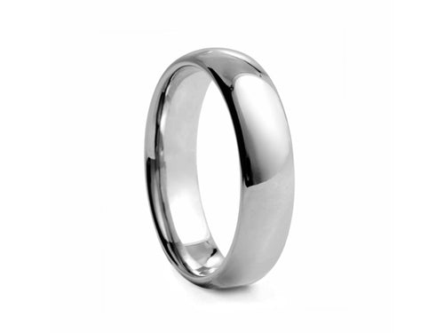 Pamela Lauz Jewellery - Half-round Polished Tungsten Band