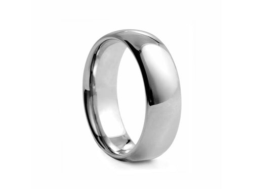 Pamela Lauz Jewellery - Half-round Polished Tungsten Wide Band