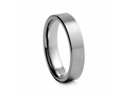 Pamela Lauz Jewellery - Straight Edge Tungsten Band