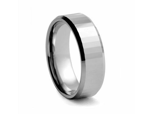 Pamela Lauz Jewellery - Polished Step-cut Tungsten Band
