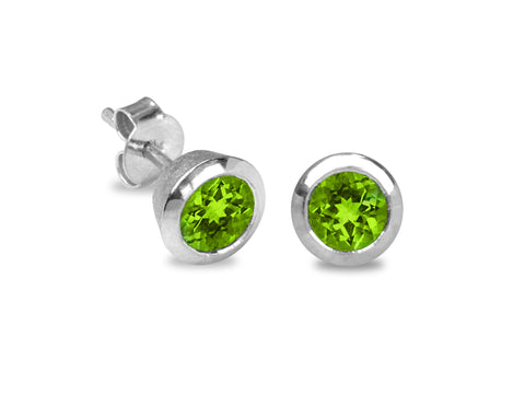 Blossom Peridot Silver Earrings