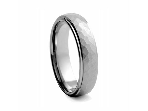 Pamela Lauz Jewellery - Hammered Finish Tungsten Band