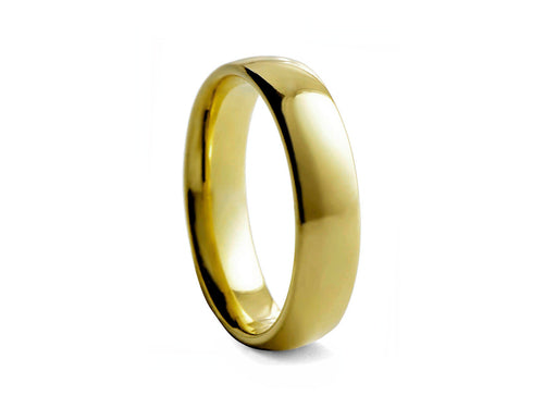 Pamela Lauz Jewellery - Gold-plated Medium Tungsten Band