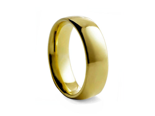 Pamela Lauz Jewellery - Gold-plated Wide Tungsten Band