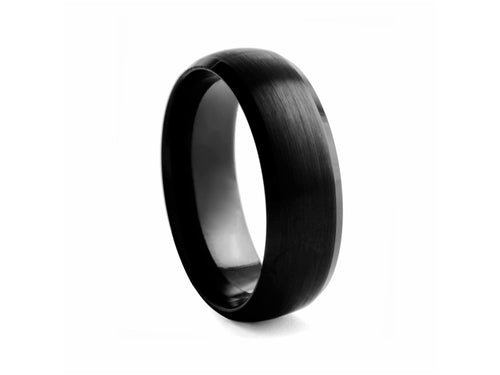 Pamela Lauz Jewellery - Half-round Black-plated Tungsten Band