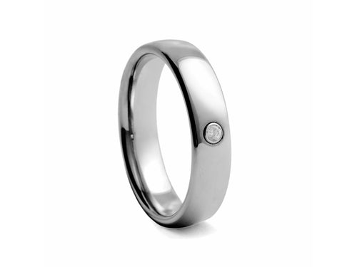Pamela Lauz Jewellery - Tungsten Band with Cubic Zirconia