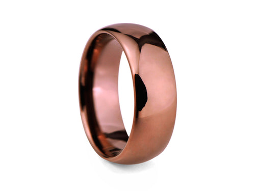 Pamela Lauz Jewellery - Polished bronze-plated Tungsten Band