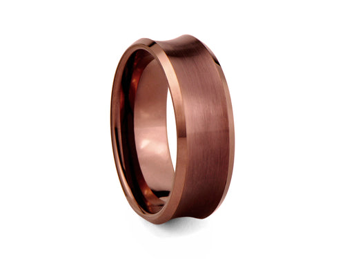 Pamela Lauz Jewellery - Bronze-plated Concave Tungsten Band