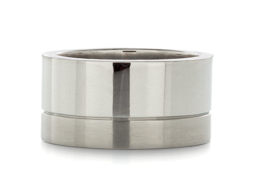 Pamela Lauz Jewellery - Wide Mens Wedding Band