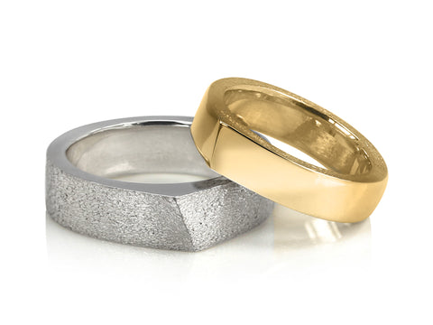Concave Tungsten Band with Polished Edges