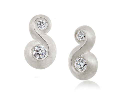 Pamela Lauz Jewellery - Rosette Diamond Stud Earrings
