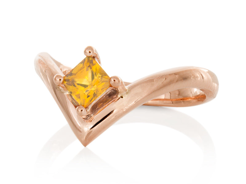 Pamela Lauz Jewellery - Yellow Sapphire Interlocking Wedding Band