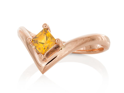 Ruby and Diamond Yellow Gold Sunburst Cocktail Ring