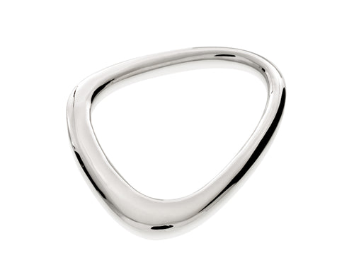 Pamela Lauz - Terra Open Pebble Sterling Silver Bangle