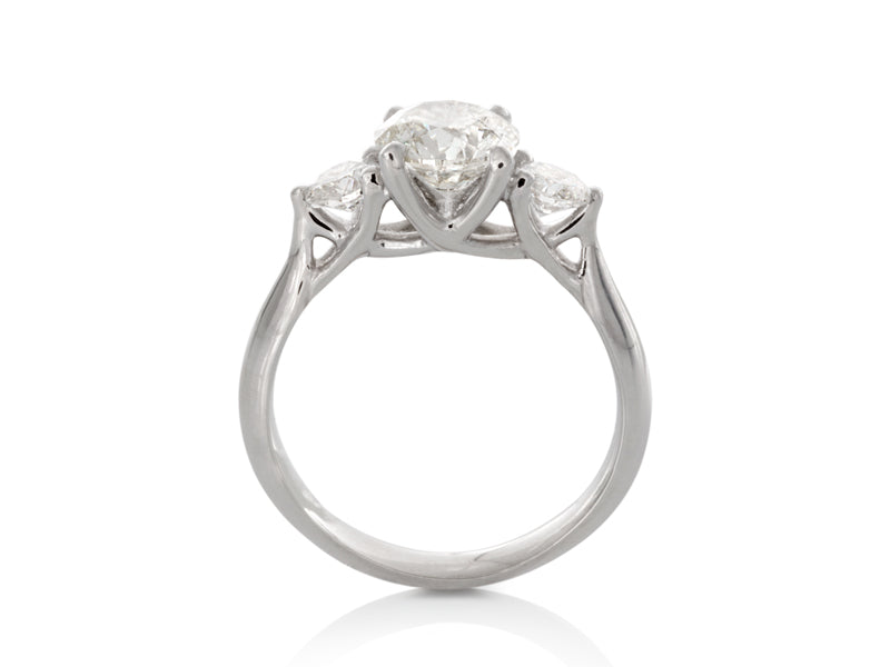 Pamela Lauz Jewellery - Three-Stone Diamond Engagement Ring