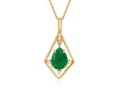 Pamela Lauz Jewellery - Jade Diamond Gold Pendant